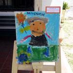 15 Benjamín Paz- Nene pisando pasto- cartón