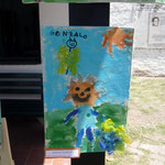 8 Gonzalo Gramajo-Nene paseando-cartón entelado