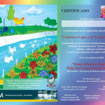 Certificados entregados a los participantes de la exposición