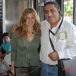 Con la escritora Andrea Jeftánovic