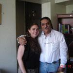Con mi ahijada Diana Herrera Thomas en las oficinas de Mago Editores