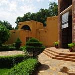 Le bâtiment principal du musée, en banco