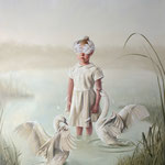 THE RITUAL OF THE GREAT WHITE SWAN NO.2 • 200x160 CM • OIL ON CANVAS • 2018 • PRIVATE COLLECTION