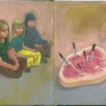 THE MEAT RITUAL • 26x21 CM • GOUACHE ON MOLESKINE • 2011
