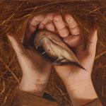 THE DEAD BIRD RITUAL NO.49 • 50x40 CM • OIL ON BOARD • 2018 • PRIVATE COLLECTION