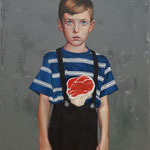 MEAT SHOT • 100x80 CM • OIL ON BOARD • 2013 • PRIVATE COLLECTION