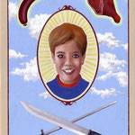 CHILD & MEAT No.1• 20x15 CM • GOUACHE ON PAPER • 2008 • PRIVATE COLLECTION