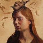 THE DEAD BIRD RITUAL NO.51 • 40x30 CM • OIL ON BOARD • 2019