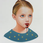 BLOODY MARY • 40x30 CM • OIL ON PAPER • 2014 • PRIVATE COLLECTION