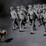 FOLLOWING THE GOLDEN GOAT • 120x80 CM • OIL ON CANVAS • 2008