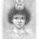 THE BLIND RABBIT RITUAL • 26x18 CM • PENCIL ON PAPER • 2014 • PRIVATE COLLECTION