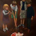 THE FOREVER YOUNG CEREMONY • 150x100 CM • OIL ON CANVAS • 2011