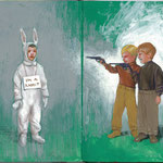 SHOOT THE RABBIT • 26x21 CM • GOUACHE ON MOLESKINE • 2011