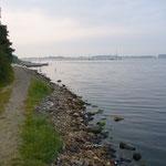 """Unser """"Strand"""" in Richtung Norden"""