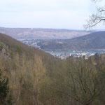 Der Lagerplatz liegt auf den Höhen über Boppard