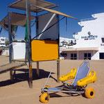 zu Tag 1: Neue Strandwache und Rollstuhlfahrzeug