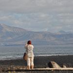 elsbeth schaut nach Lanzarote