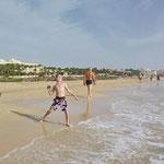 Wurfübungen am Strand der Costa Calma