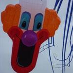 Das ist der neue Clown. In vielen fleißigen Stunden von Gerd entworfen und genäht.