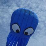 Lothar zeigt seinem Octopus den Strand von Fanö und den weiten Horizont.