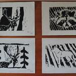 Linoldrucke und Monotypien der NMS Kautzen- Ausstellung