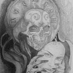 """Zeichnung """" Jeder Mensch hat 2 Gesichter"""" von Mohammed Majid"""