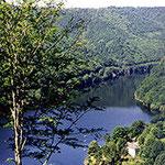 Le barrage de Chastang 10 km (6miles)