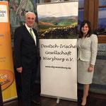 Vortrag des irischen Botschafters Michael Collins, 03.05.2017 (Botschafter Michael Collins, Emma Phelan)