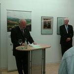 Eröffnung der Synge-Ausstellung, Irische Botschaft Berlin, 19.10.2015 (Matthias Fleckenstein, Botschafter Michael Collins)