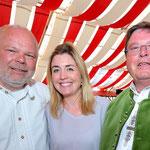 Kilianieröffnung, 01.07.2016: Matthias Fleckenstein, Aoife McGarry, Bürgermeister Dr. Adolf Bauer