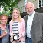 Jubiläumsfest, 02.07.2016: Bürgermeisterin Marion Schäfer-Blake, Aoife McGarry, Matthias Fleckenstein