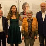 Operation Shamrock, Ausstellungseröffnung, 26.07.2017 (Klaus Armstrong-Braun, Monica Brandis, Agnes Thevis, Matthias Fleckenstein, Foto: Claudia Lother, Stadt Würzburg)