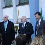 Gedenktafel für John Millington Synge, 24.05.2014 (Botschafter Michael Collins, Matthias Fleckenstein, Oberbürgermeister Christian Schuchardt)