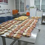Weitere Bilder aus der Sandwichproduktion.