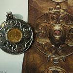 Ein Anhänger nach dem Vorbild eines alten Keltenschildes von 1100 v. Chr.
