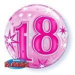 balon bubbles różowa 18