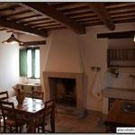 L'antica cucina con camino