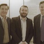 Corrado Natale, Andrea Natale al centro (regista) e sulla destra Greg French (ambasciatore australiano a Roma)
