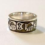 Owl Ring ネイティブアメリカンのデザインがモチーフのフクロウリング
