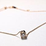 Diamond on Pink Gold ダイヤのネックレス(ピンクゴールド使用)