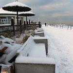 Surfcafé Norderney im Schnee