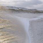 Winterstrand an der Wetterwarte Norderney Nordstrand