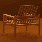 Progetto di una poltrona in legno