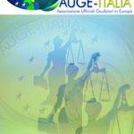 Logo per l'Associazione Ufficiali Giudiziari in Europa (AUGE-ITALIA)