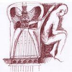 Schizzo -idea per una sedia in PVC