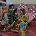 amoureux de Peynet origami par Mony