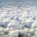 たくさんの雲。3Dで見ると、とっても幻想的!