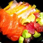 海鮮丼Xmas風