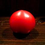 昨日、中島廉売で購入したトマト。小さいけど5個で¥100。甘~い♡