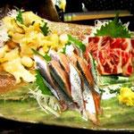 新鮮魚介のお刺身もおすすめ!